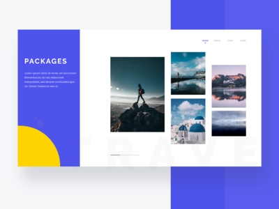 Travel Landing Page - Exploration