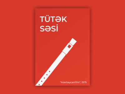 "The Sound of Pipe (""Tütək Səsi"") vector poster film poster flat design"