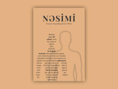 "Minimalist film poster for ""Nasimi"" film vector film poster poster design poster design"