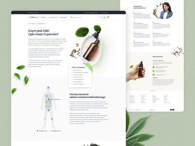 Scientific studies section for a CBD e-commerce platform lab science study shopping branding natural nature supplements pharmacy minimalist minimal clean oil cannabis oil cannabinoids cannabis cbd store e-shop e-commerce