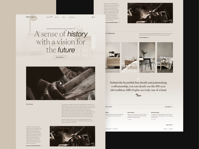 Website for a boutique furniture building company woodworking timber tradition craft furniture typography landing page website web luxury boutique mobile branding logo design ui web design ux minimal clean