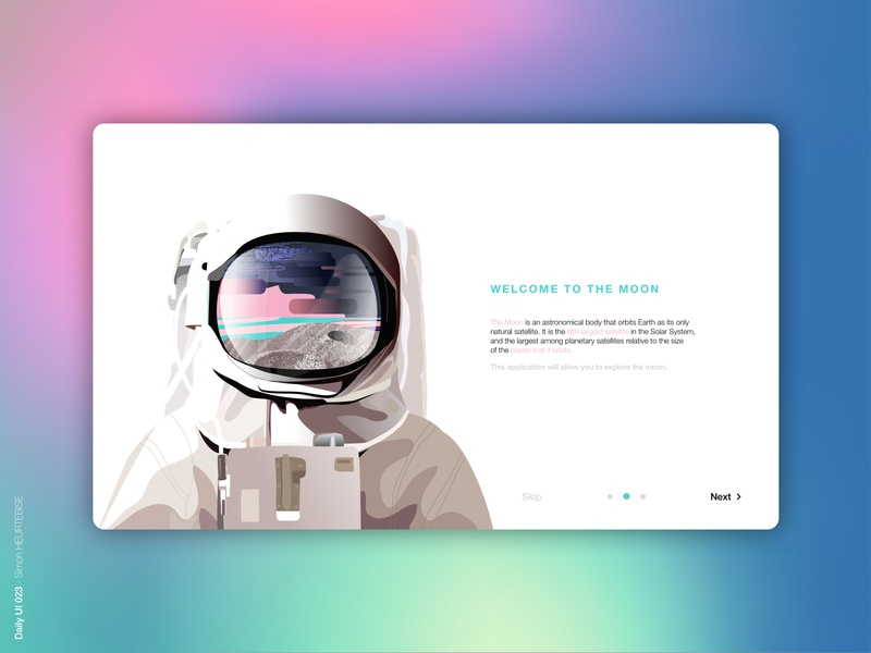 Daily UI 023 - Onboarding onboarding gradient color gradient space cosmos illustration dailyui023 daily 100 challenge design uxdesign webdesigner ui userinterface uiux uidesign dailyuichallenge dailyui