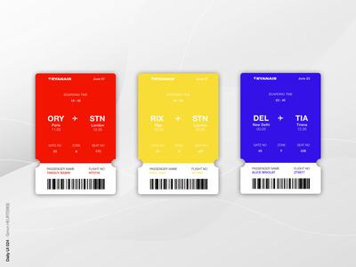 DailyUI 024 - Boarding Pass