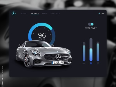 Daily UI 034 - Car Interface carinterface dailyui034 levels speed mercedes-benz car mercedes daily 100 challenge design webdesigner uxdesign ui userinterface uiux uidesign dailyuichallenge dailyui