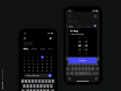 Daily UI 080 - Date Picker schedule calendar date datepicker 080 dailyui080 daily 100 challenge design webdesigner uxdesign uiux ui userinterface uidesign dailyuichallenge dailyui