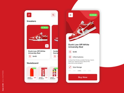 Daily UI 096 - In Stock dribbbleinvite dailyui096 096 sneakers supreme buy now nike shop shoes ui daily 100 challenge design webdesigner uxdesign userinterface uiux uidesign dailyuichallenge dailyui