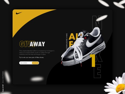 Daily UI 097 - Giveaway dribbble invite online store game email nike shoes nike dailyui097 giveaway 097 daily daily 100 challenge ui design webdesigner uxdesign userinterface uiux uidesign dailyuichallenge dailyui