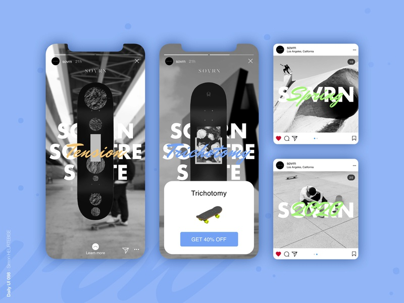 Daily UI 098 - Advertisement dribbble invite skateboard sovrn instagram instagram stories skate dailyui098 098 advertisement daily ui daily 100 challenge design webdesigner uxdesign userinterface uiux uidesign dailyuichallenge dailyui
