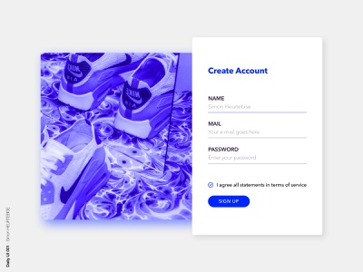 Daily UI 001 - SignUp uiux dailyuichallenge dribbble graphicdesign illustration userinterface uidesigner uxresearch webdesigner dailyui 001 dailyui uidesign uxdesign ux ui