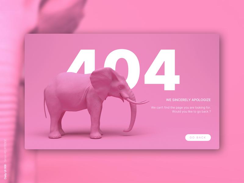 Daily UI 008 - 404 page webdesigner dailyui008 404 userinterface ui uiux uidesign dailyuichallenge dailyui 404page