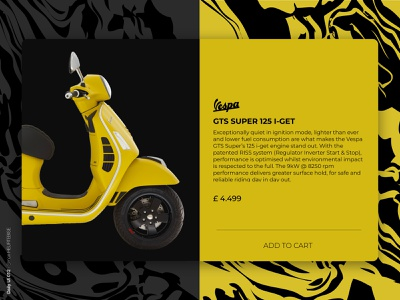 Daily UI 012 - SingleProduct dailyui012 add scooter vespa yellow single single product daily 100 challenge design uxdesign webdesigner ui userinterface uiux uidesign dailyuichallenge dailyui