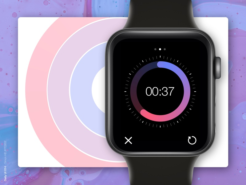 Daily UI 014 - Countdown blue purple pink countdowntimer countdown dailyui014 watch illustration design uxdesign webdesigner ui userinterface uiux uidesign dailyuichallenge dailyui
