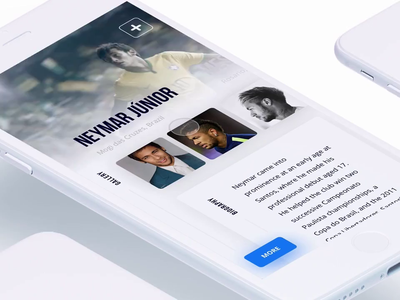 Nike App Concept sport football animation ui transition gallery white app mobile ui mobile nike