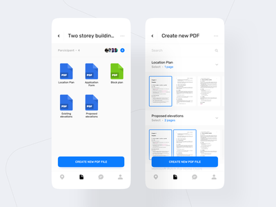 Planning App. Document Overview ux black mobile ui bar white clean app mobile ui
