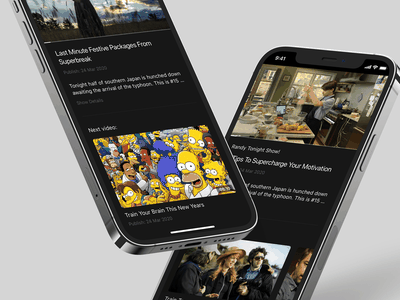 Video App. Application builder for video makers. Part One tv movie series player template clean stream video black app mobile