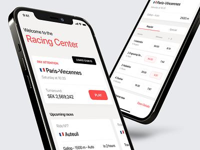 Ride App design white clean ui app mobile