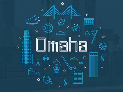 Omaha Illustration for Hudl