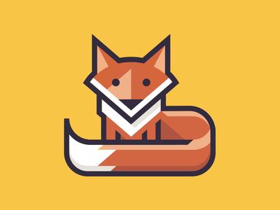 Fox logo fox design illustration app