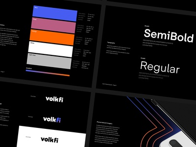 Volk Fi Brand Guide brand design logo design retro brand guide branding brand