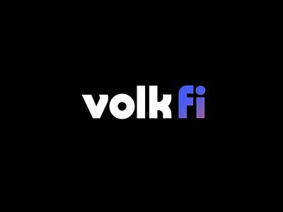 Volk Fi Logo retro branding logo typography