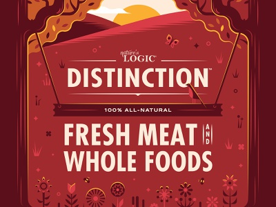 Nature's Logic Distinction Packaging food packaging design packaging illustration dog illustration dog