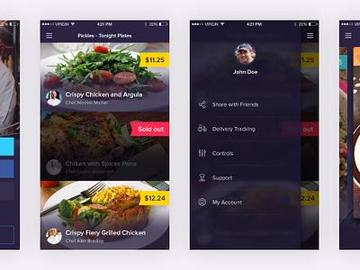 Restaurant App - Free PSD material psd free design list login menu navigation ui app mobile restaurant