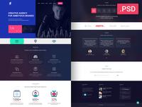 Creative Website Design - Free PSD