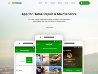HomeCare Android App UI Concept