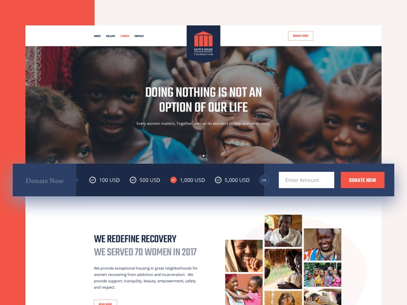 Charity Website Design theme header fundraising donation event campaign foundation organisation ngo design website charity