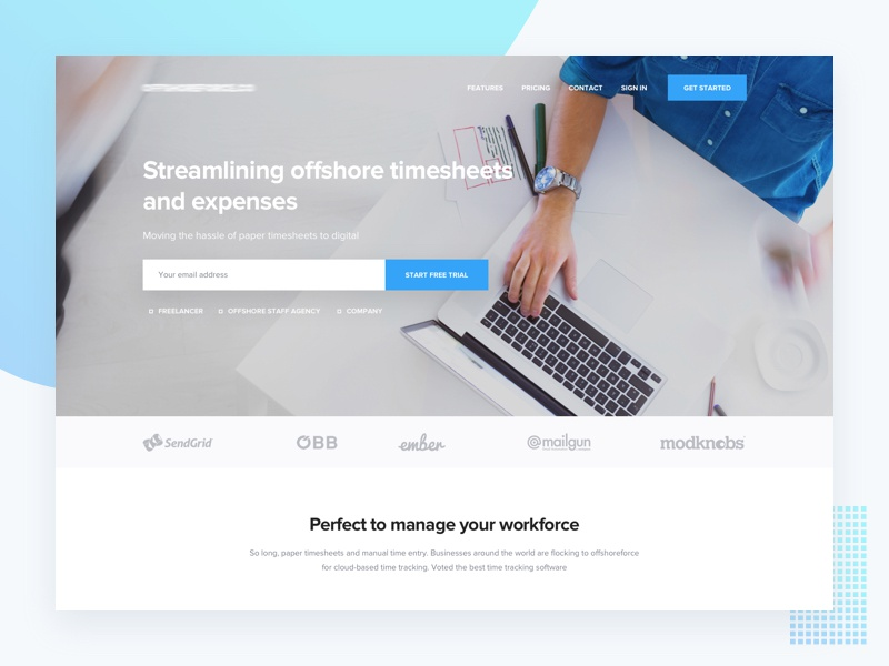 Landing Page Design for Business offshore landing page design corporate website web creative one agency service business