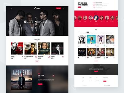 Music and Artist Platform theme album song home page ux ui landing page personal singer design web website artist platform music