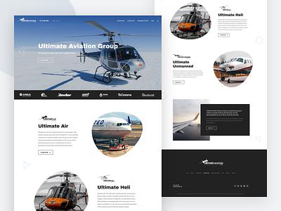 Landing Page Design typography home concept page landing theme web creative flat ux ui design website