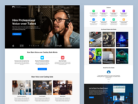 Voice Over Agency Landing Page