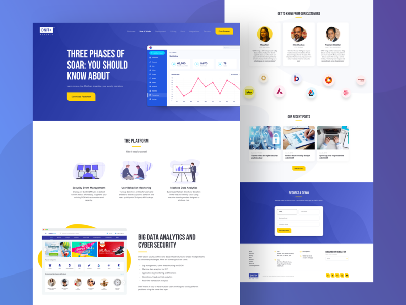 Security Analytics theme creative security home analytics data design landing page website