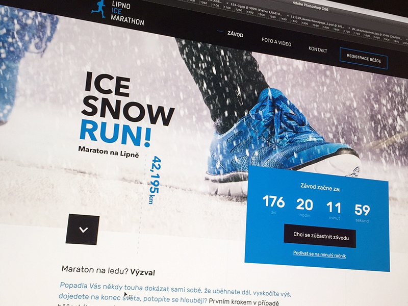 ICE, SNOW, RUN! website uidesign blue minimalism clear clean webdesign ux winter