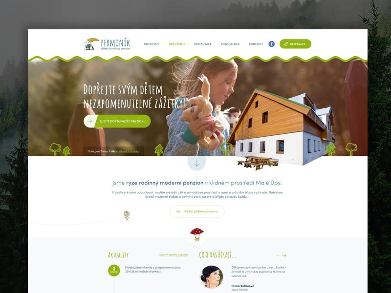 Penzion Permoník wave uxdesign uidesign malaupa colorful kids webdesign