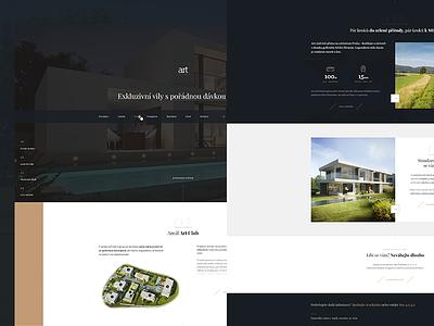W.I.P. luxury home contrast minimalism black webdesign website exlusive gold uxdesign uidesing ux ui luxury