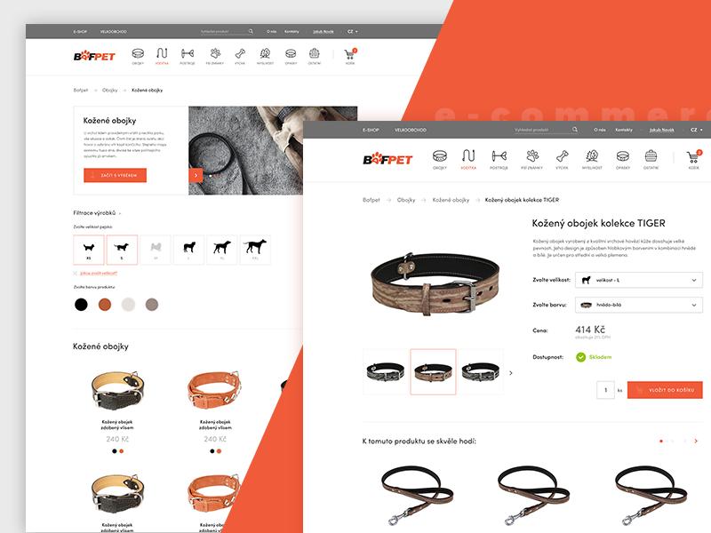 Pet Shop czech orange animals photoshop flat clear clean uxdesign ui ux design e-commerce