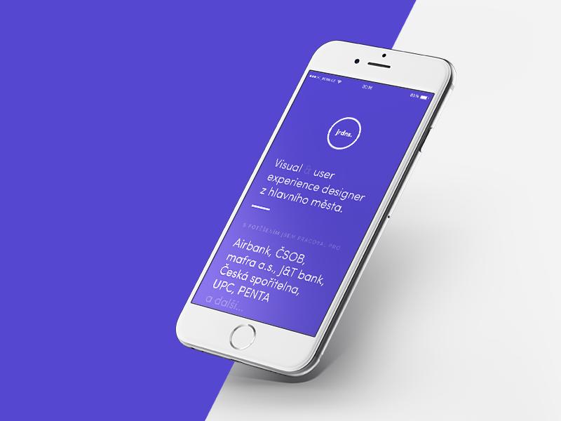 Personal Website apps uidesign minimalism clean responsive mobile purple blue portfolio website personal