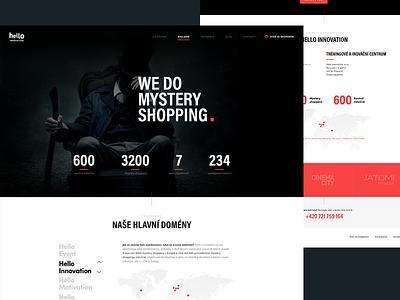 Hello Innovation Redesign mystery minimalism modern uxdesign ux ui black webdesign design uidesign
