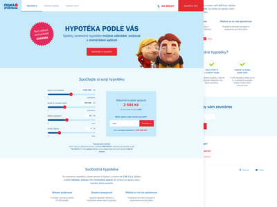 CSAS landing page red blue responsive minimalism design uidesign uxdesign clear clean microsite