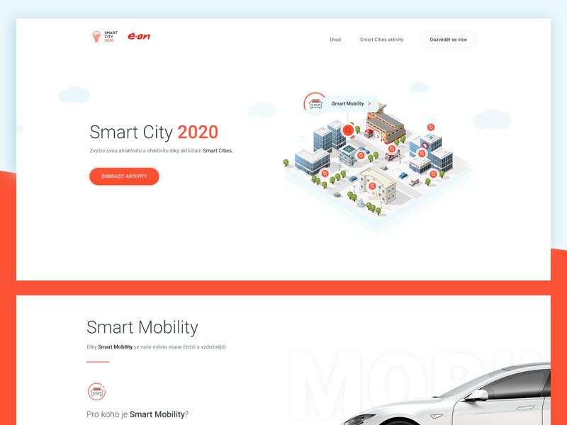 e-on Smart Cities uxdesign uidesign design webdesign landingpage microsite cities smart