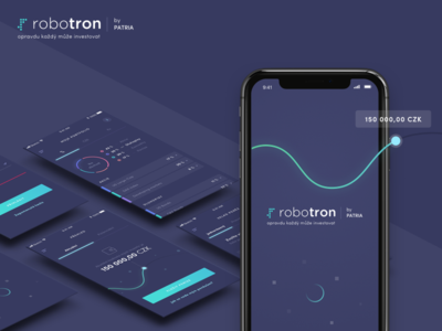 Robotron - mobile app iphonex ios app ios money financial finance purple minimalism design app mobile