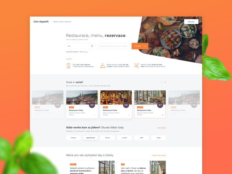 Donapettit landing page clean sketch minimalism food orange uxdesign uidesign design webdesign web landing page