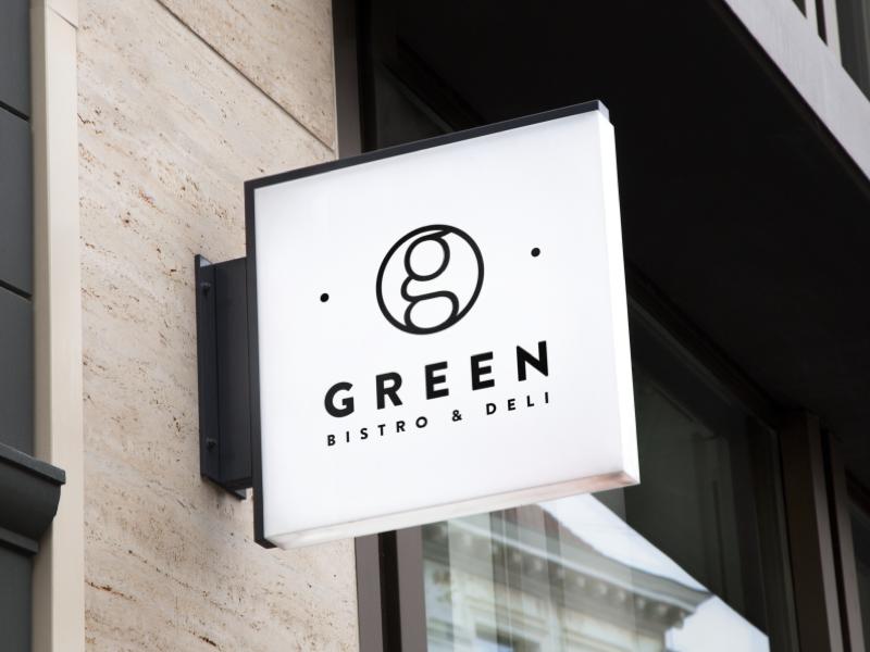 Green Bistro design logo cid restaurant identity golf green