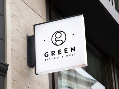 Green Bistro design logo cid restaurant identity golf green