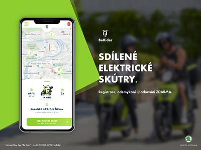 BeRider App Redesign app design green app mobile app mobile design mobile mobile ui flat ui clear uxdesign ux minimalism clean design