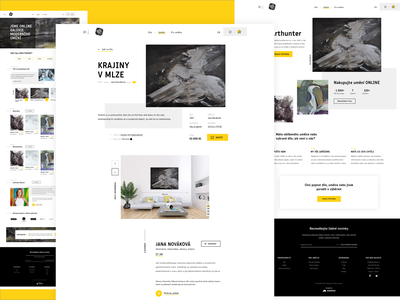 ArtBanana gallery yellow clear uxdesign webdesign minimalism clean design website