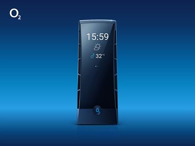 O2 Smart Box - Display Design minimalism o2 blue uxdesign uidesign product design product
