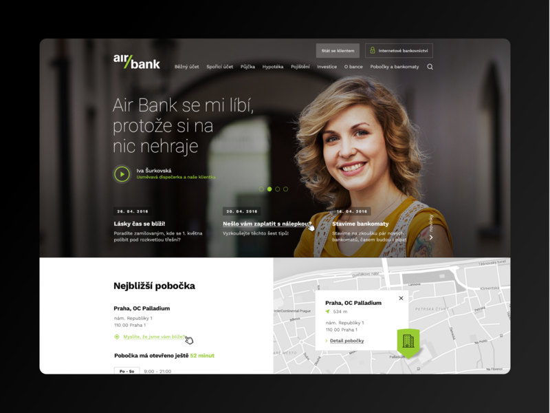 Air Bank redesign uidesign clear ui ux web uxdesign webdesign minimalism clean design